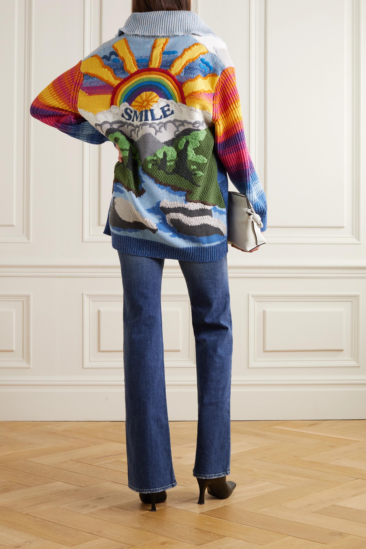 Stella McCartney Kind intarsia wool and cotton-blend cardigan