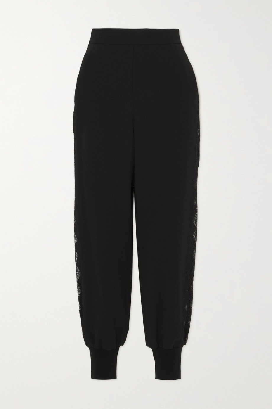 Stella McCartney + NET SUSTAIN Julia lace-trimmed stretch-cady track pants
