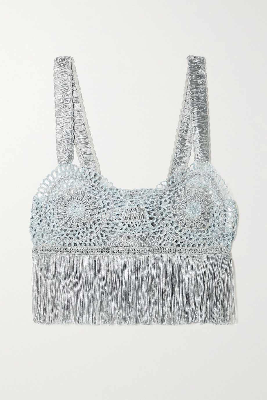 Stella McCartney Fringed crochet-knit bralette