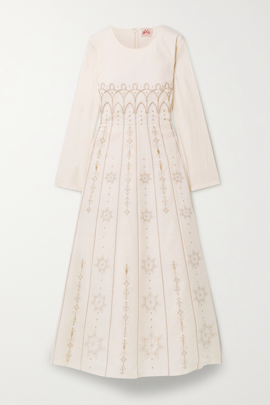 Le Sirenuse Positano Tracey Palazzina embroidered cotton maxi dress