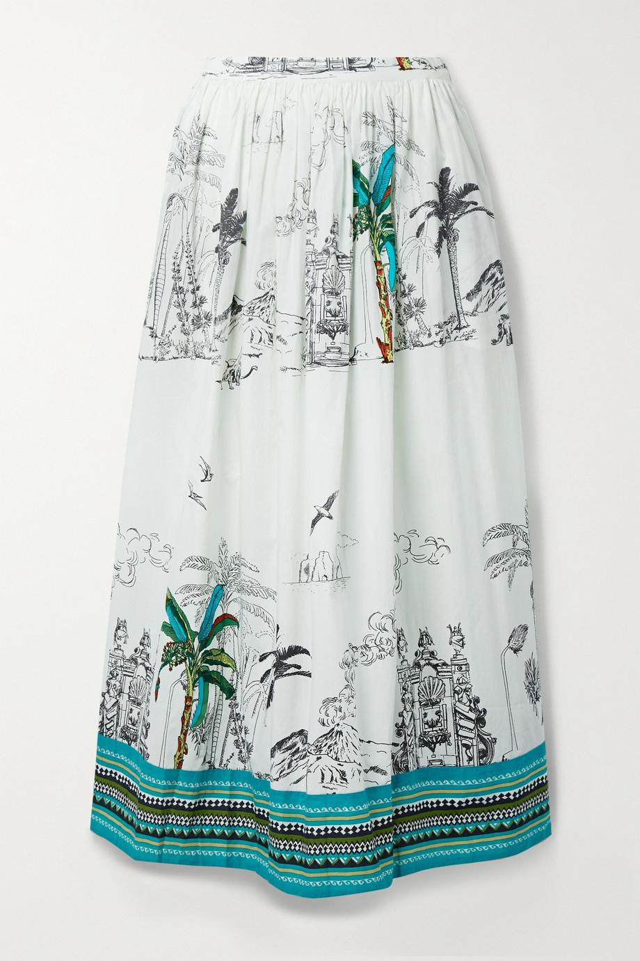 Le Sirenuse Positano New Jane printed cotton maxi skirt