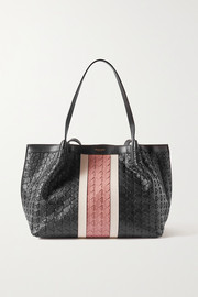 Serapian Secret small woven leather tote