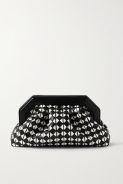 Serapian Secret woven leather clutch