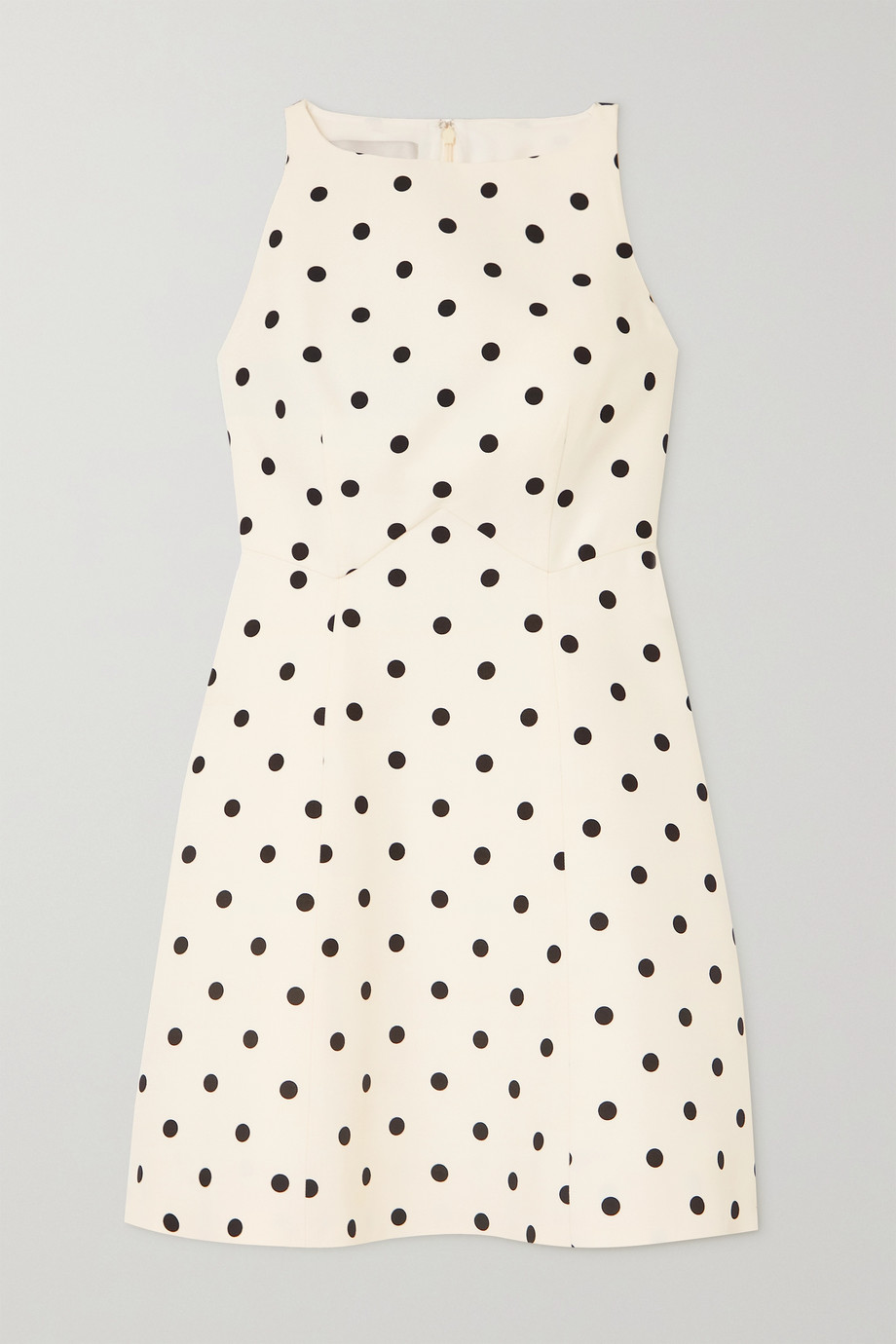 Valentino Polka-dot wool and silk-blend crepe mini dress