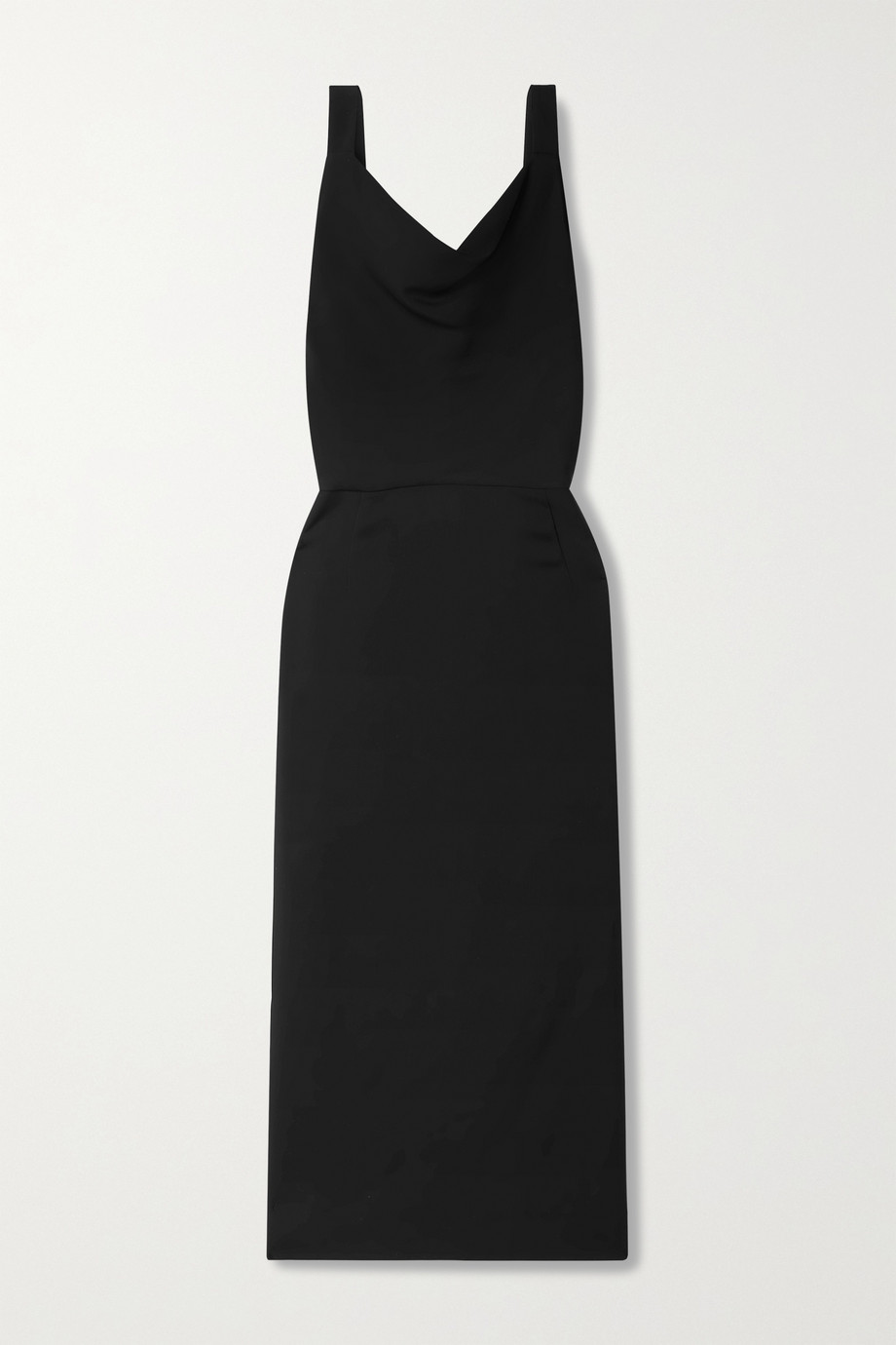 Valentino Draped stretch-crepe midi dress
