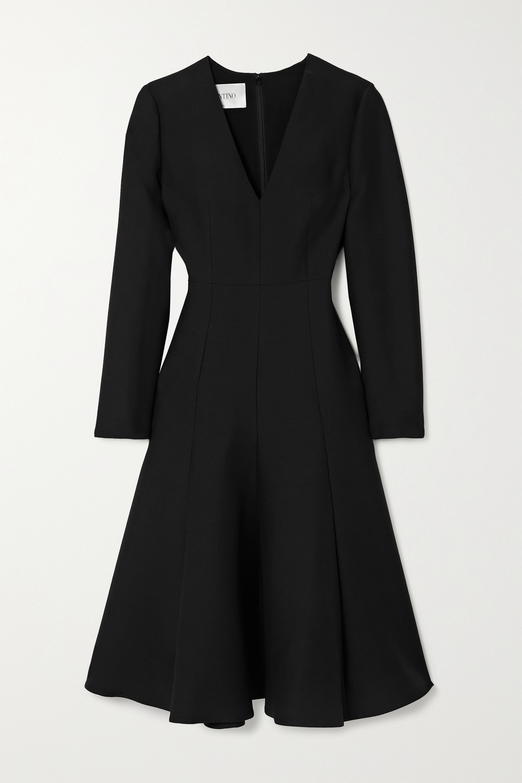 Valentino Wool and silk-blend midi dress