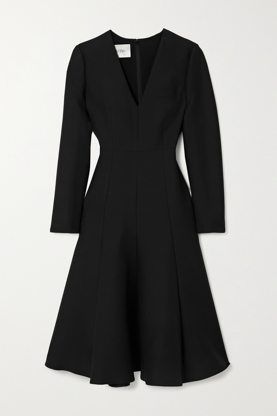 Valentino Wool and silk-blend midi dress
