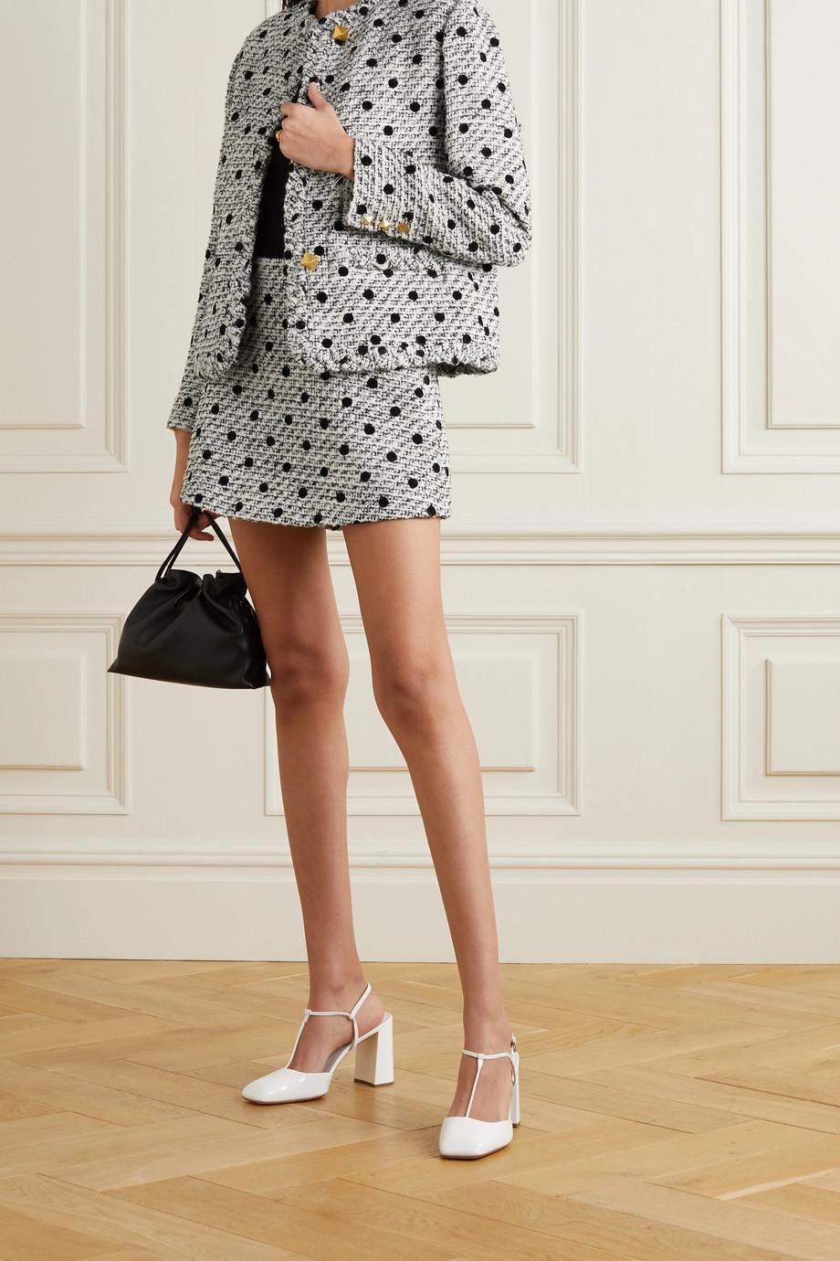 Valentino Polka-dot flocked wool-blend tweed jacket