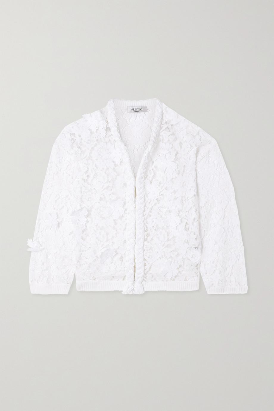 Valentino Appliquéd corded lace jacket