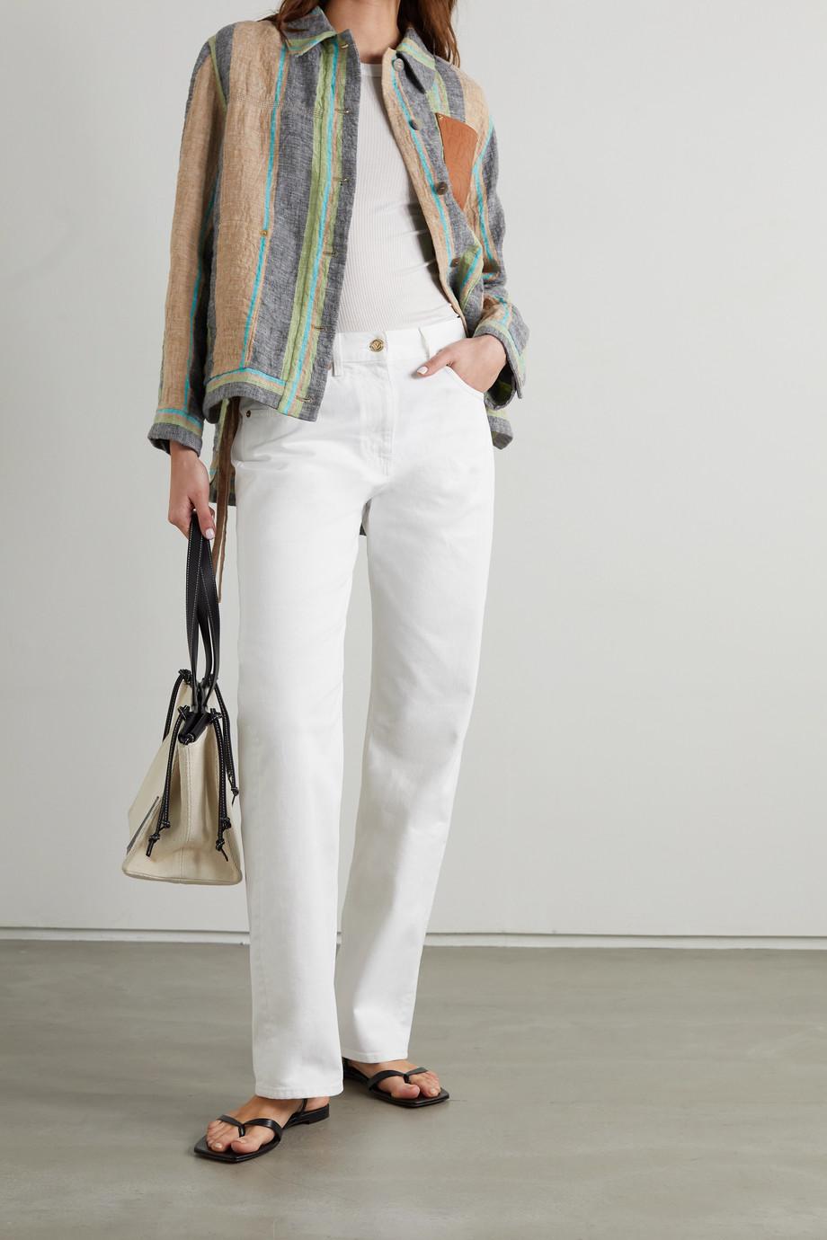 Valentino High-rise straight-leg jeans