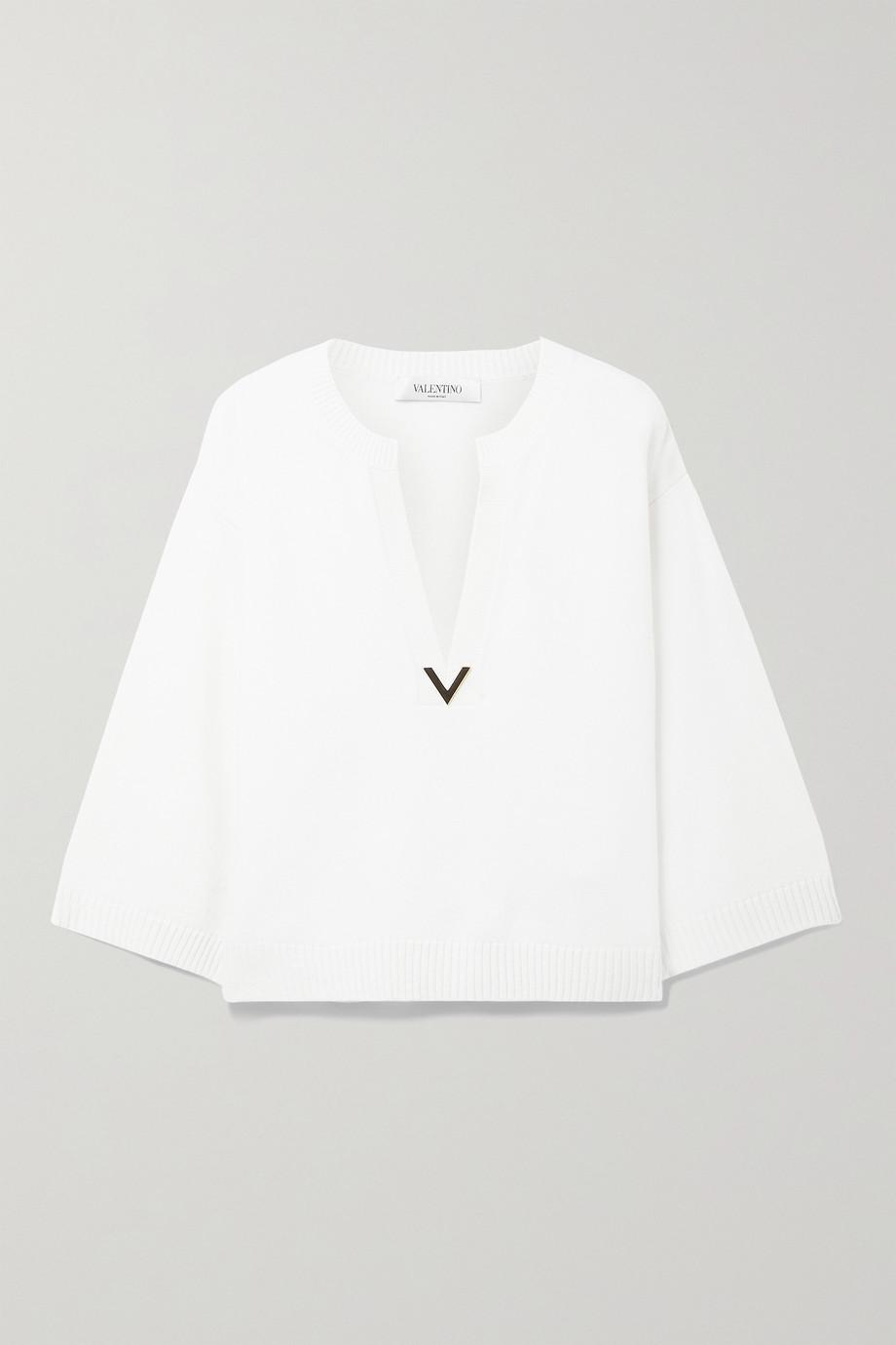 Valentino Verzierter Kaschmirpullover