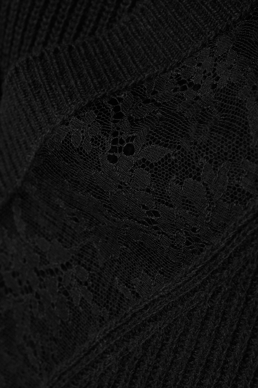 Valentino Pull en laine et cachemire mélangés côtelés et en dentelle