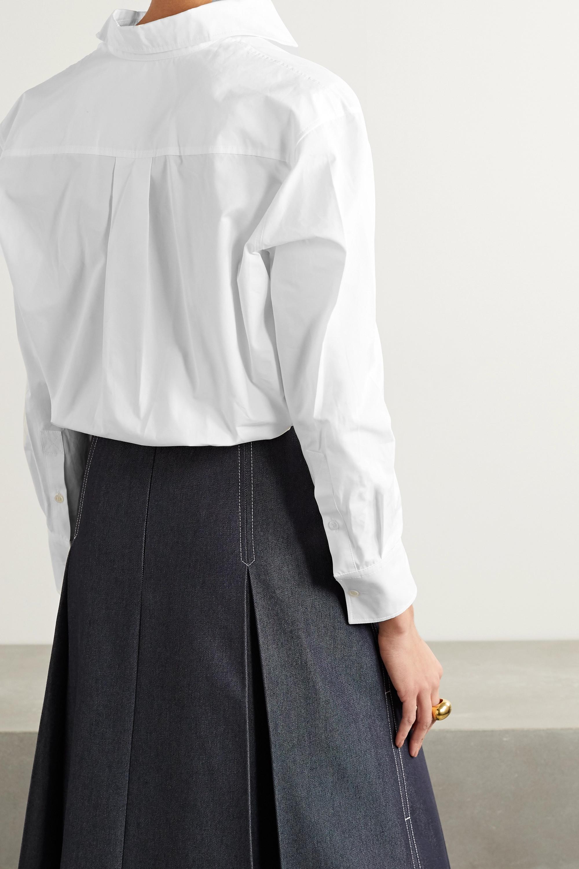 Valentino Cotton-poplin and jersey bodysuit