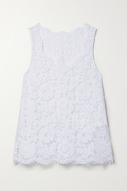 Valentino Scalloped corded lace tank