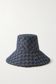 Gucci + NET SUSTAIN organic denim-jacquard hat
