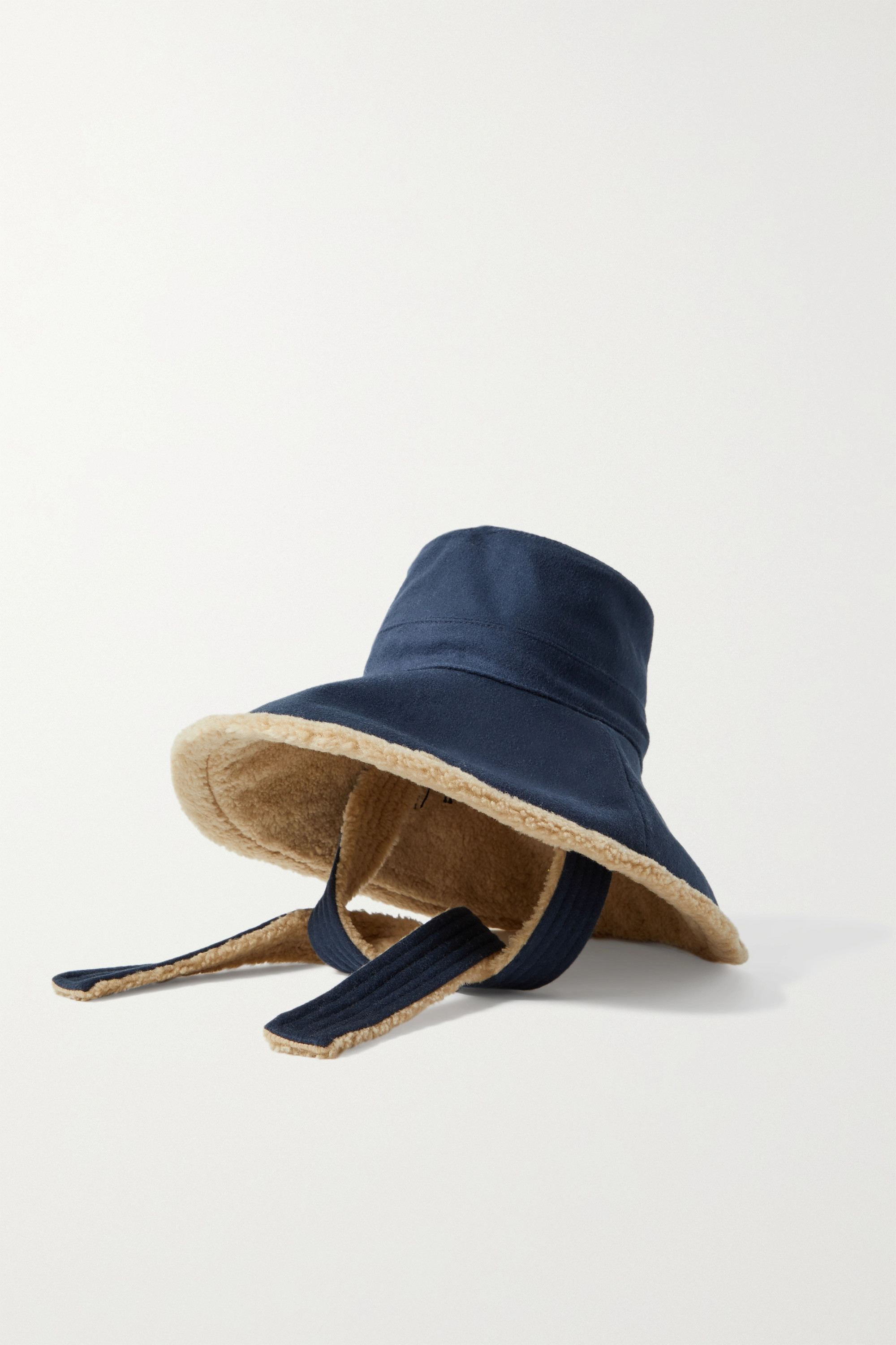 Gucci Faux shearling-lined wool and cashmere-blend felt hat