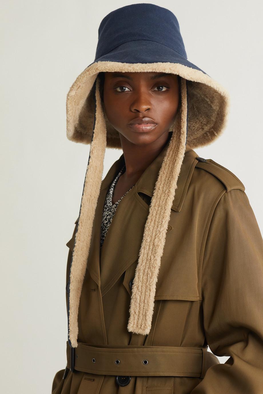 Gucci Hut aus Filz aus einer Woll-Kaschmirmischung mit Futter aus Shearling-Imitat