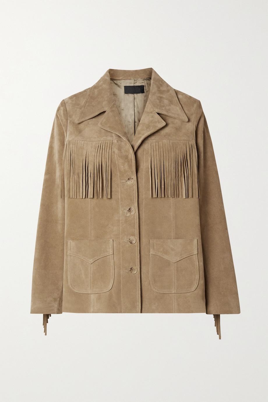 Nili Lotan Carter fringed suede jacket