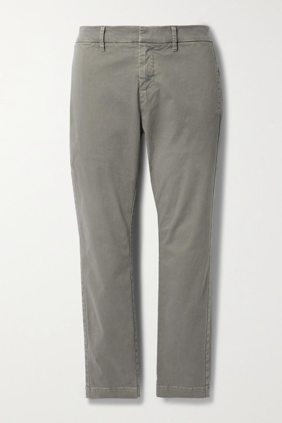 Nili Lotan Tel Aviv cropped stretch-cotton twill tapered pants