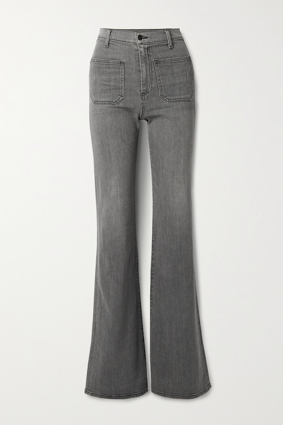 Nili Lotan Florence distressed high-rise flared jeans