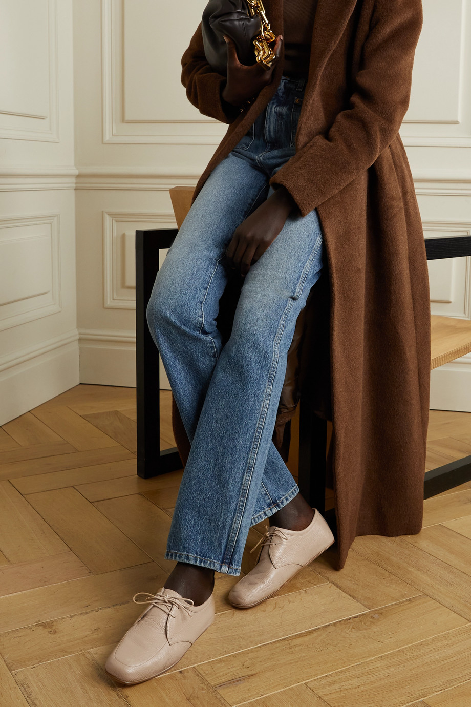 Gabriela Hearst Chaussures plates en cuir texturé Luca