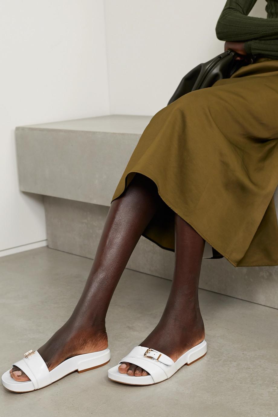 Gabriela Hearst Elie leather slides