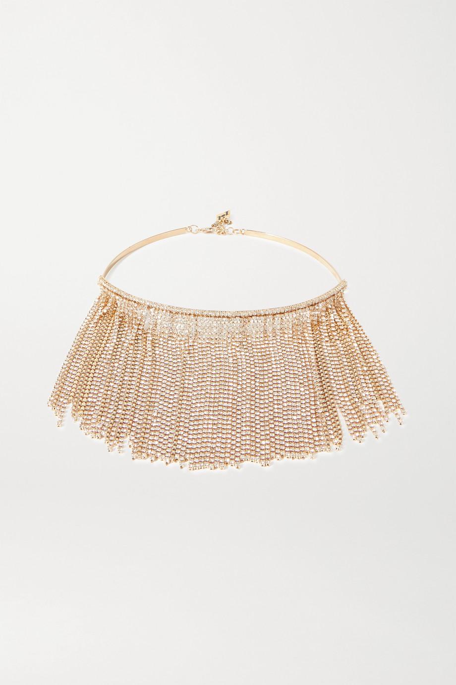 Rosantica Collier en métal doré et cristaux à pampilles