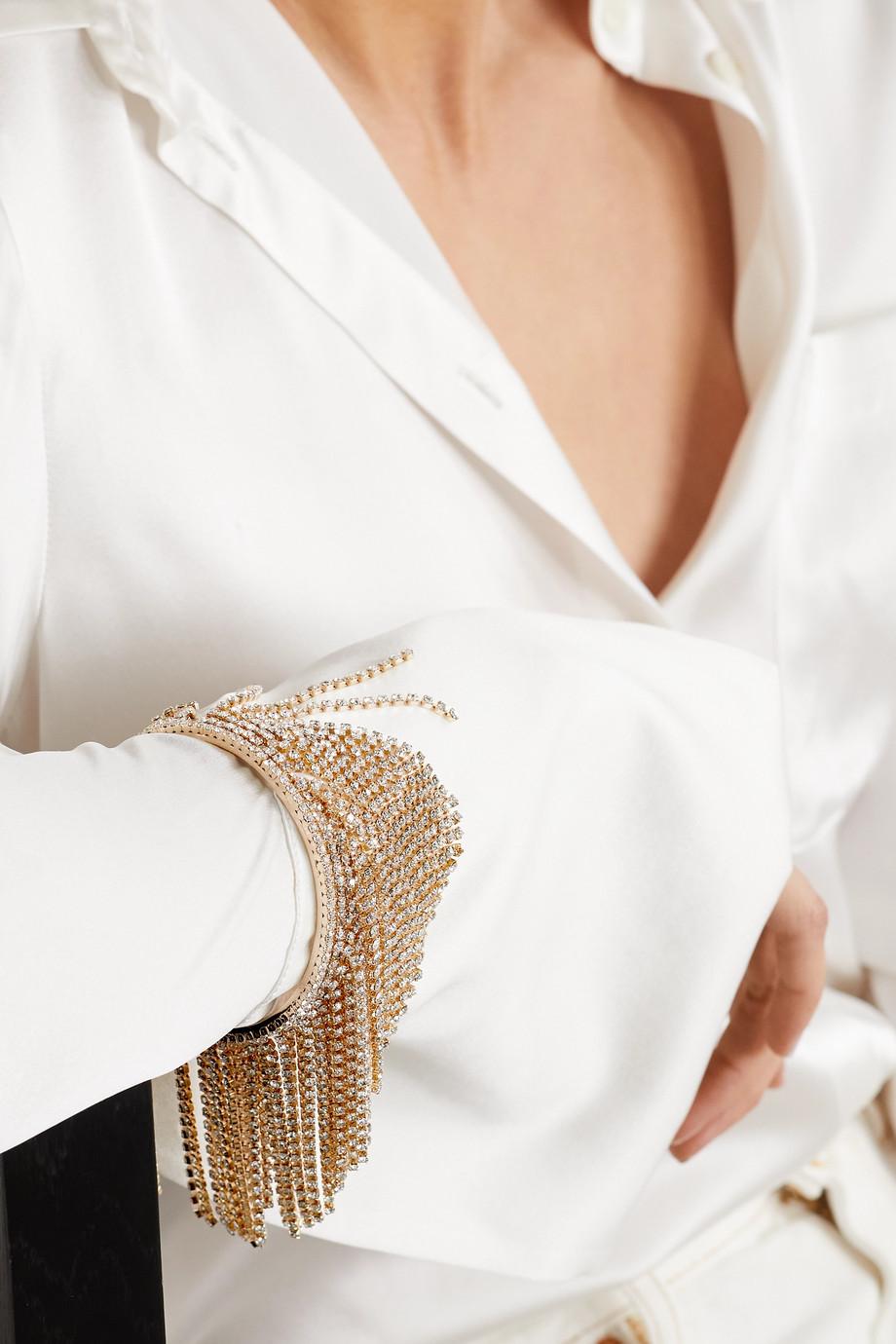 Rosantica Bracelet en métal doré et cristaux à pampilles