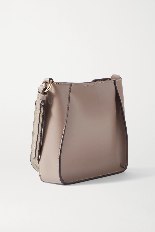 Stella McCartney Tiny perforated vegetarian leather shoulder bag