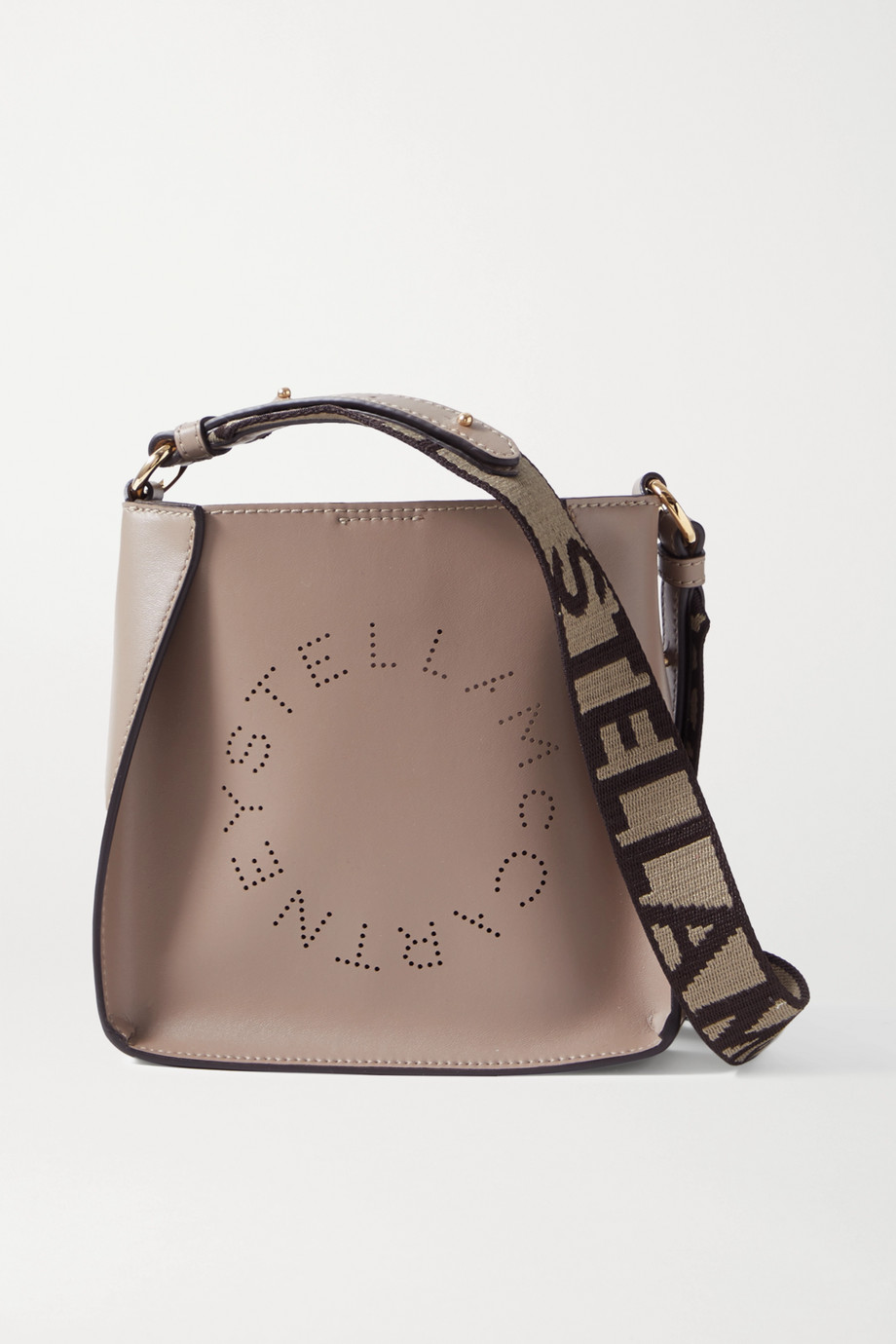Stella McCartney Tiny perforated vegetarian leather shoulder bag