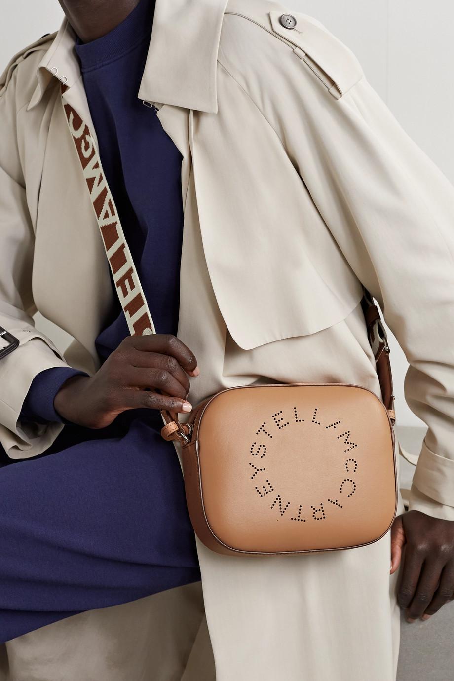 Stella McCartney Kameratasche aus Kunstleder mit Perforationen