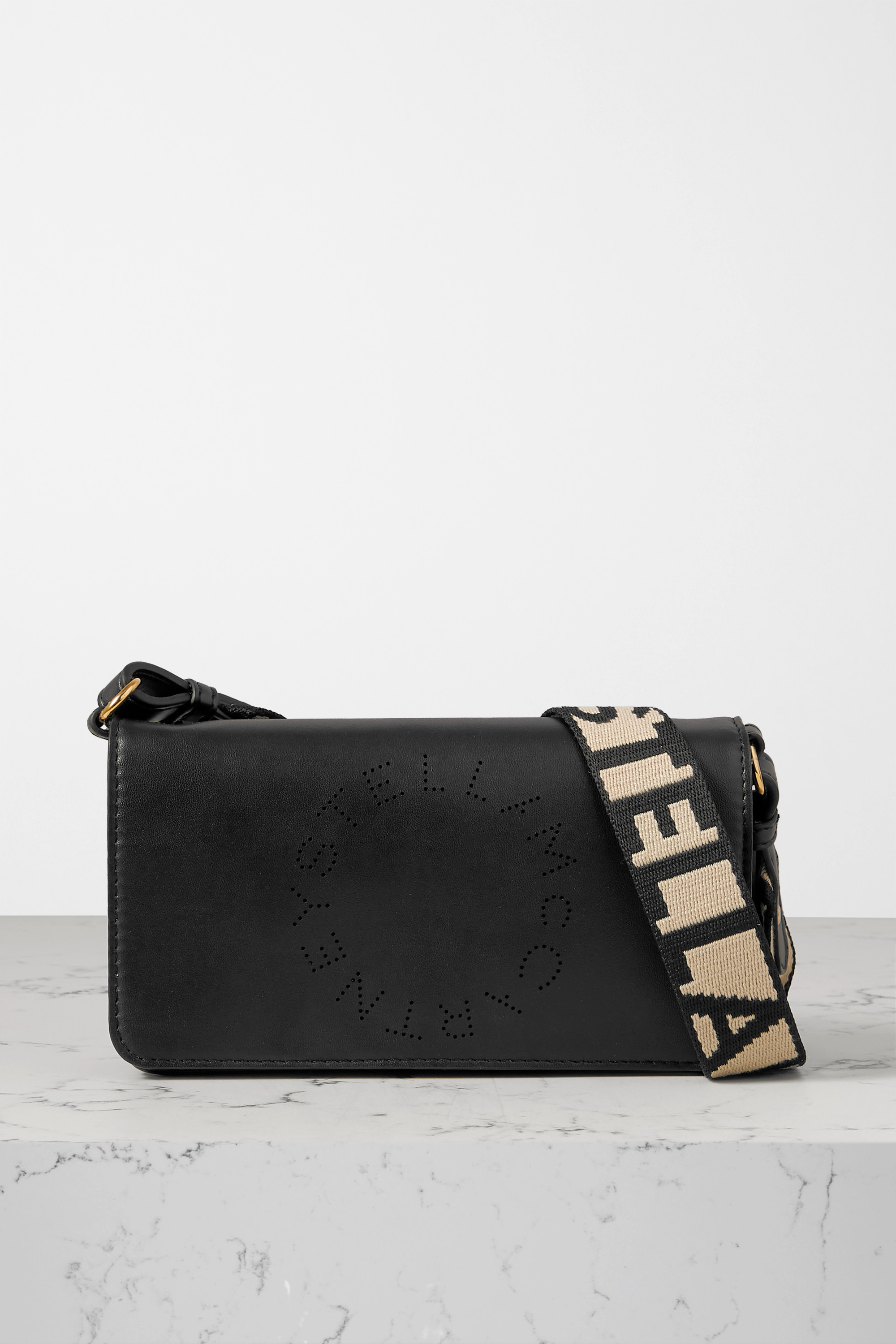 Stella McCartney Perforated vegetarian leather shoulder bag