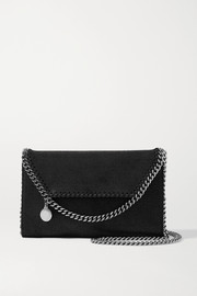 Stella McCartney The Falabella mini vegetarian textured-leather shoulder bag