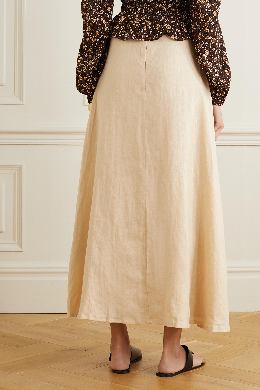 Faithfull The Brand + NET SUSTAIN Devon belted linen maxi skirt