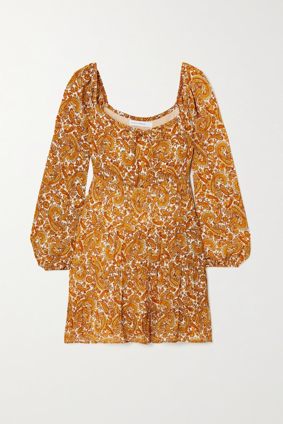 Faithfull The Brand + NET SUSTAIN Indira tie-detailed paisley-print chiffon mini dress
