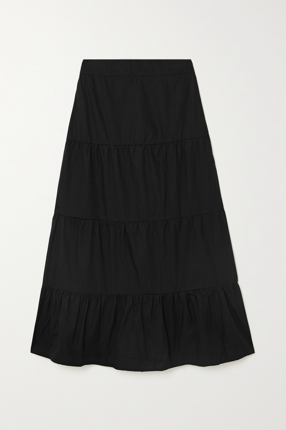 Faithfull The Brand + NET SUSTAIN Farida cotton-poplin midi skirt