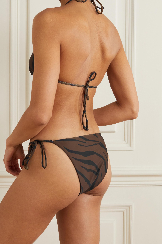 Faithfull The Brand + NET SUSTAIN tiger-print triangle halterneck bikini