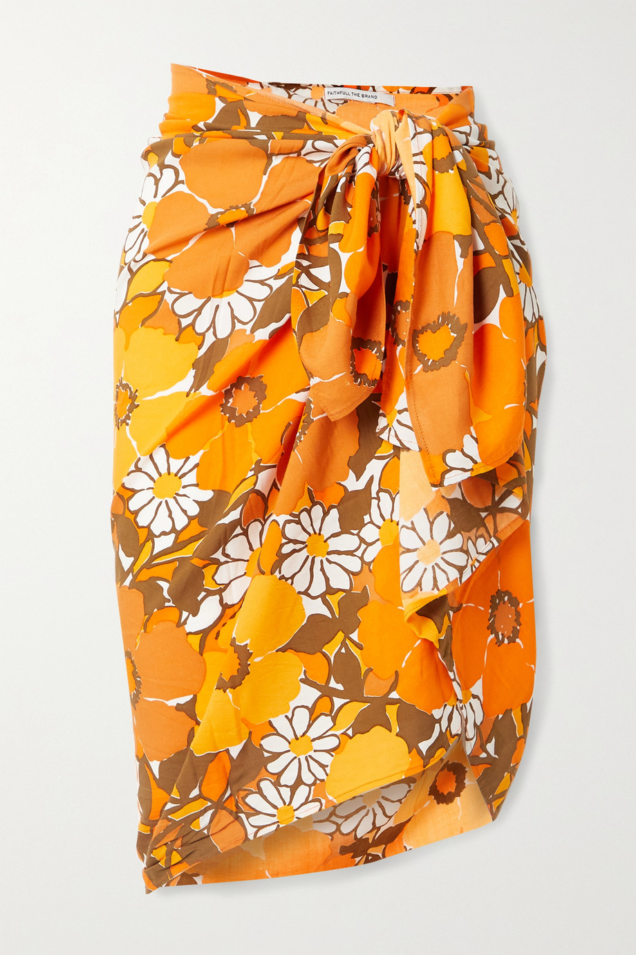 Faithfull The Brand + NET SUSTAIN Nixie floral-print voile pareo