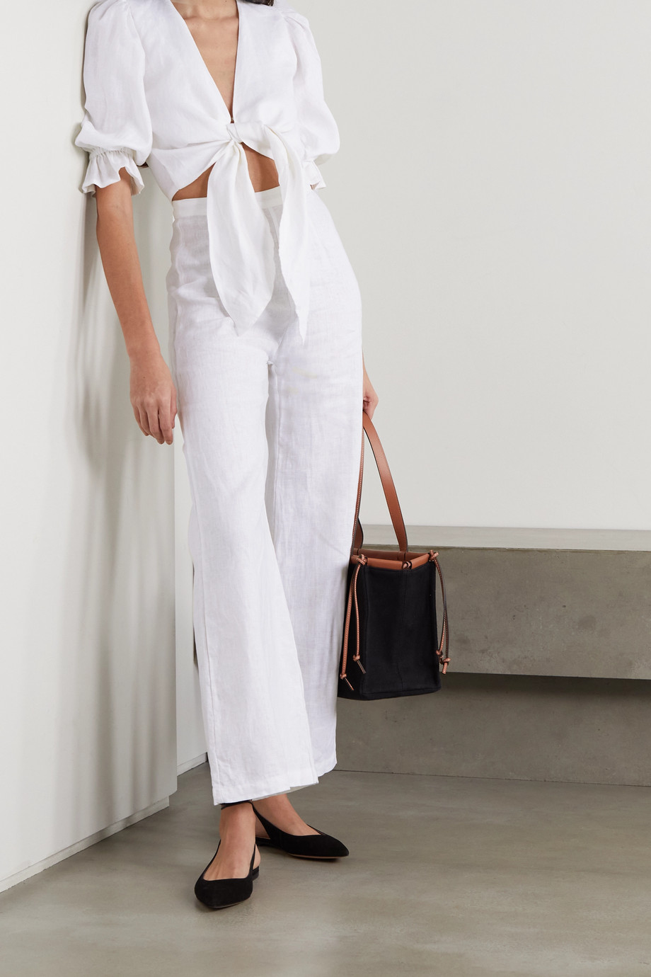 Faithfull The Brand + NET SUSTAIN Sibyl linen wide-leg pants