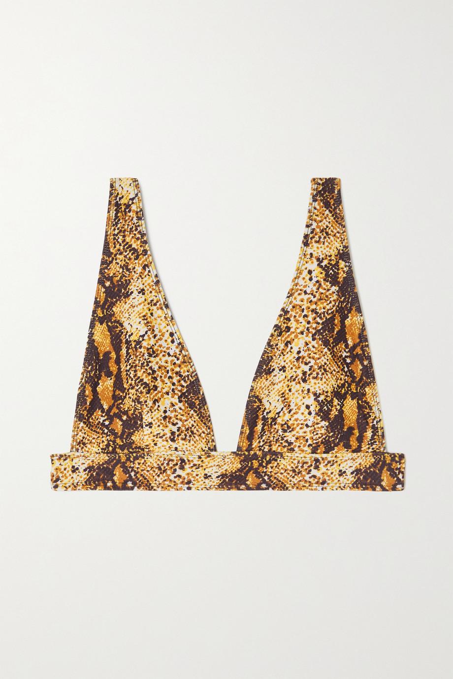 Faithfull The Brand + NET SUSTAIN Palolem snake-print triangle bikini top