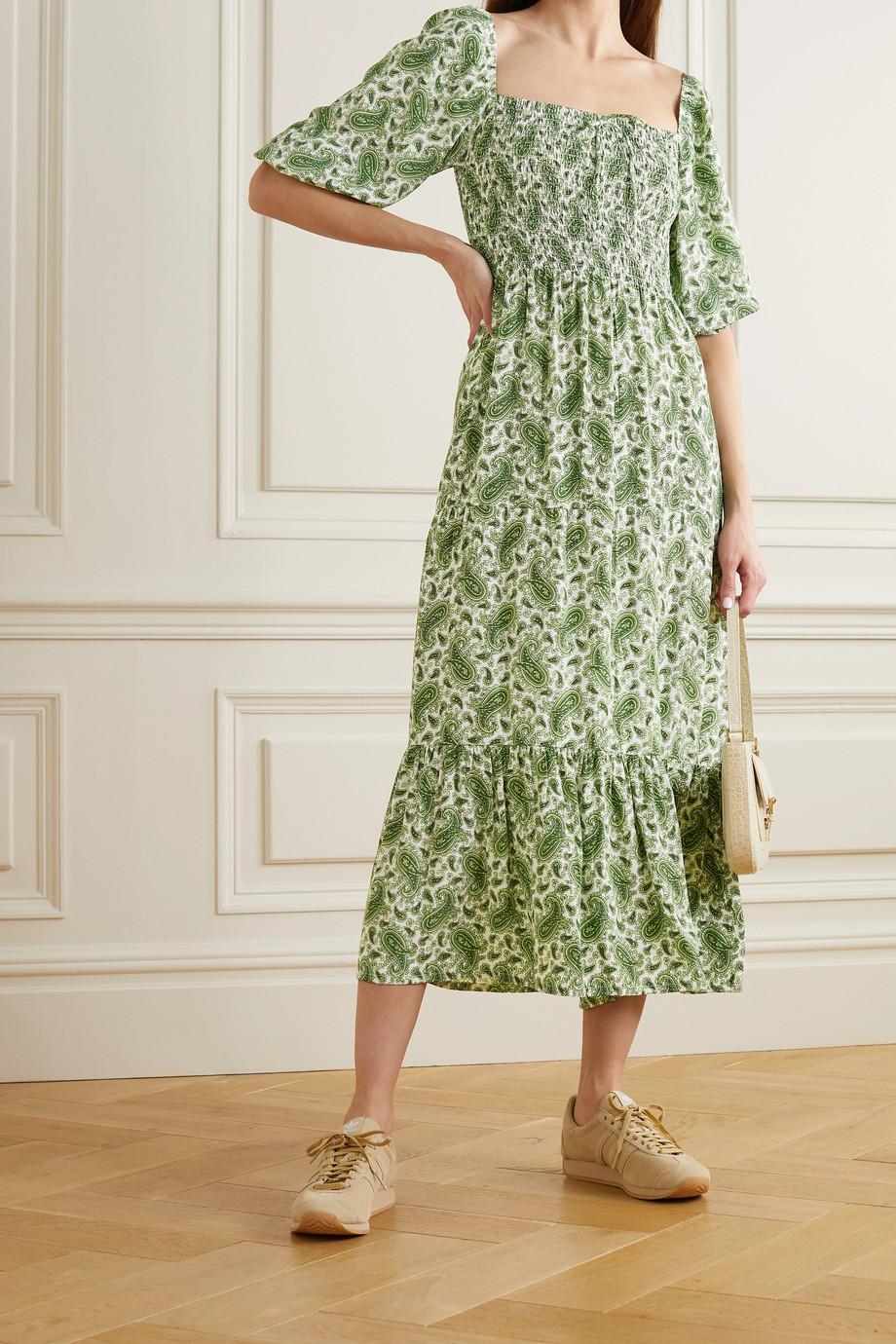 Faithfull The Brand + NET SUSTAIN Le Galet paisley-print crepe midi dress