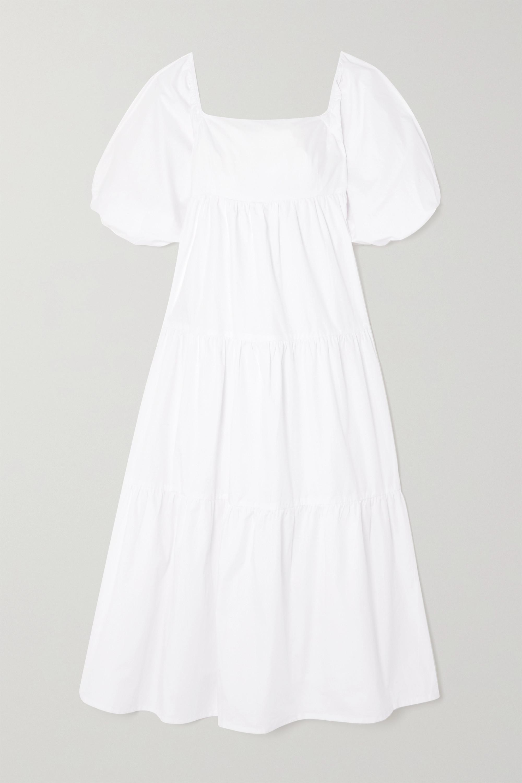 Faithfull The Brand + NET SUSTAIN Kiona tiered cotton-poplin midi dress