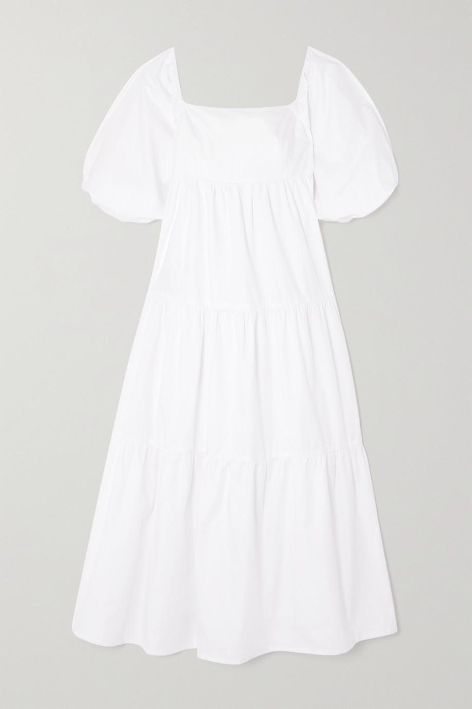 Faithfull The Brand Robe midi en popeline de coton Kiona - NET SUSTAIN