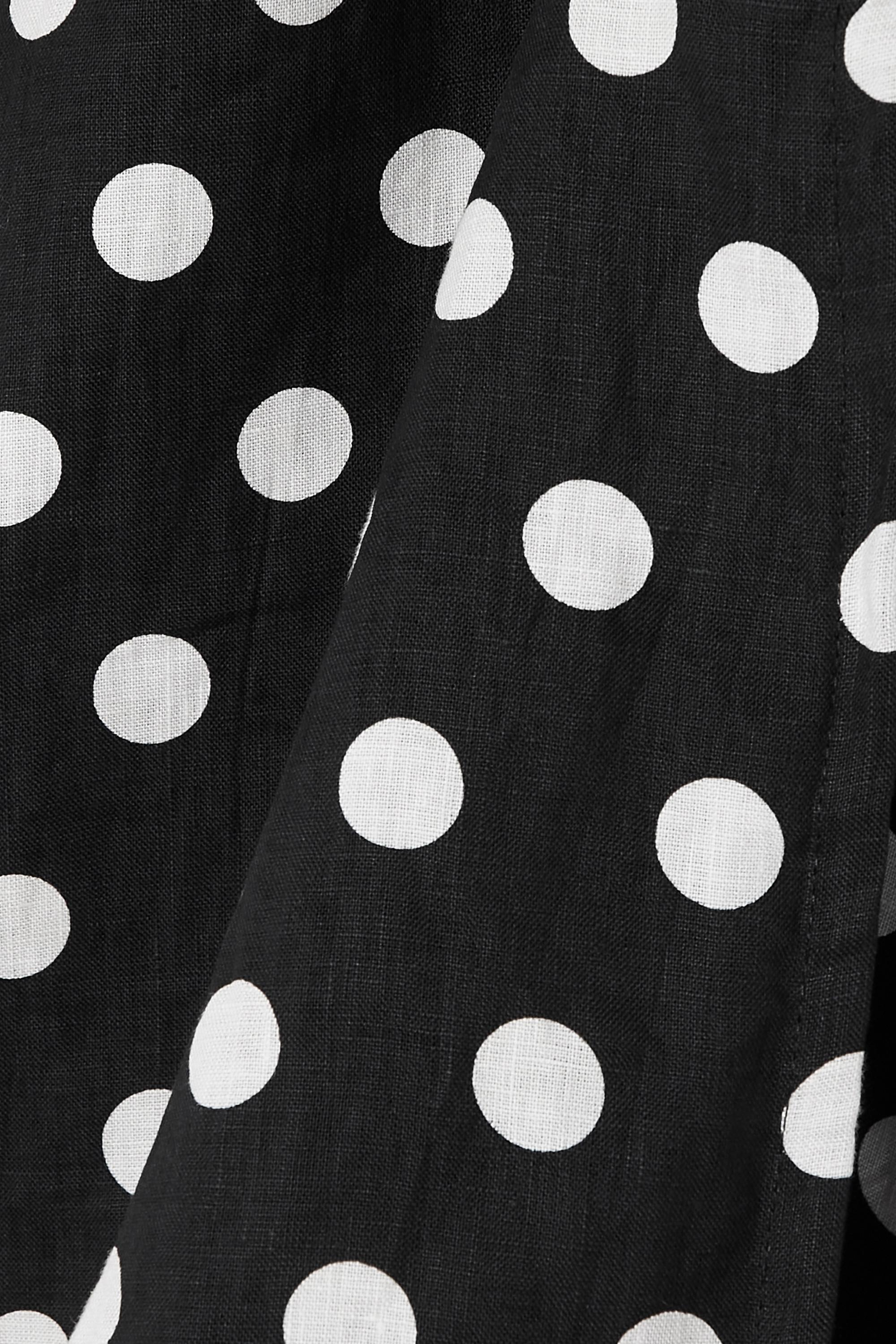 Faithfull The Brand + NET SUSTAIN Godiva polka-dot linen mini wrap dress