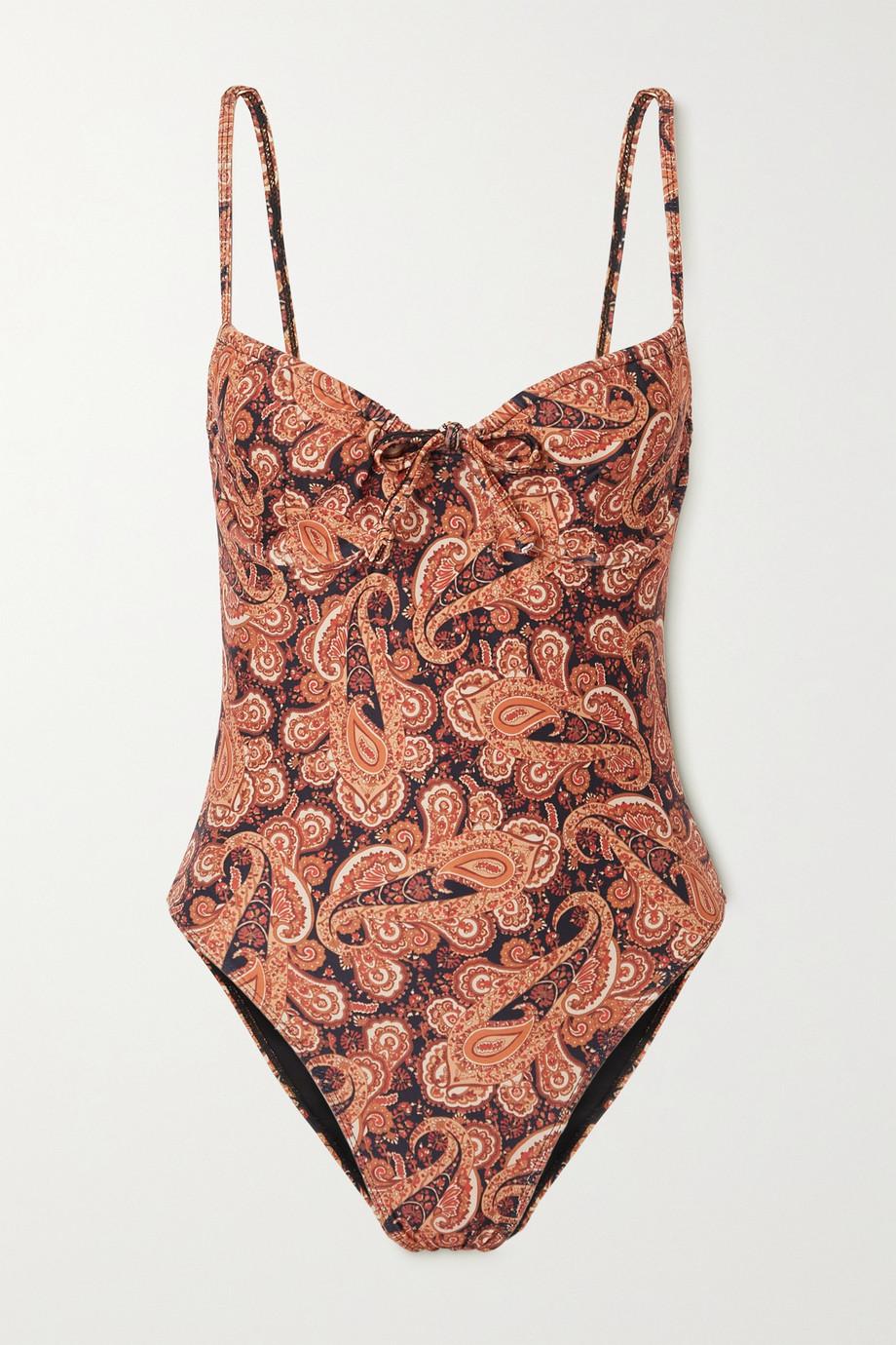 Faithfull The Brand + NET SUSTAIN Mumbai paisley-print underwired swimsuit