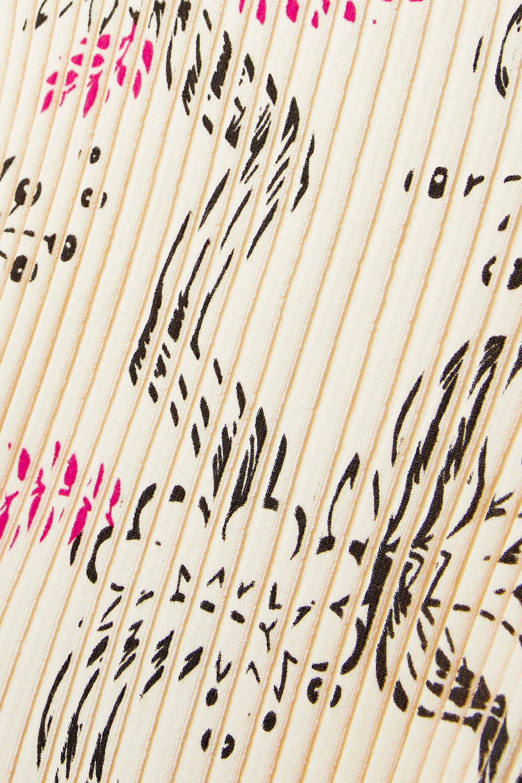 Paco Rabanne Ribbed printed cotton midi dress