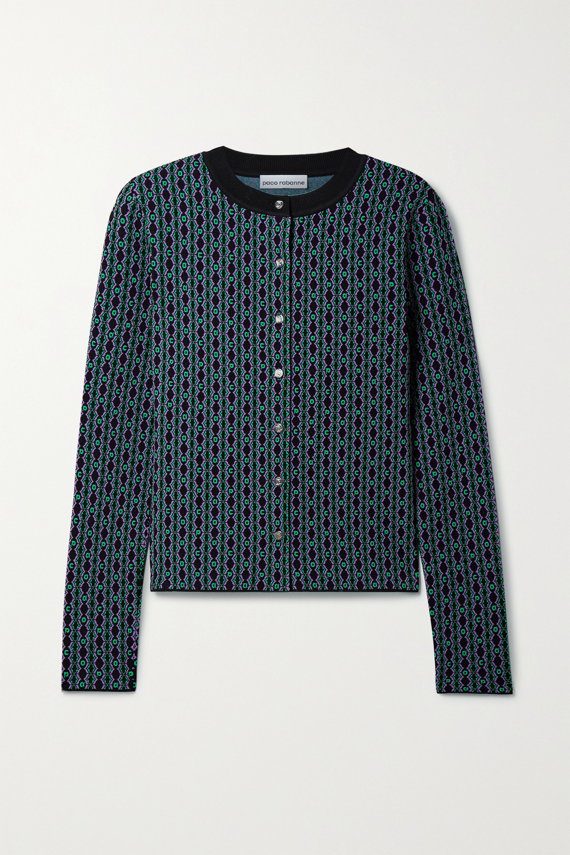 Paco Rabanne Intarsia knitted cardigan