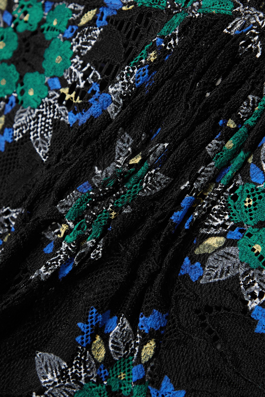 Paco Rabanne Floral-print lace turtleneck maxi dress