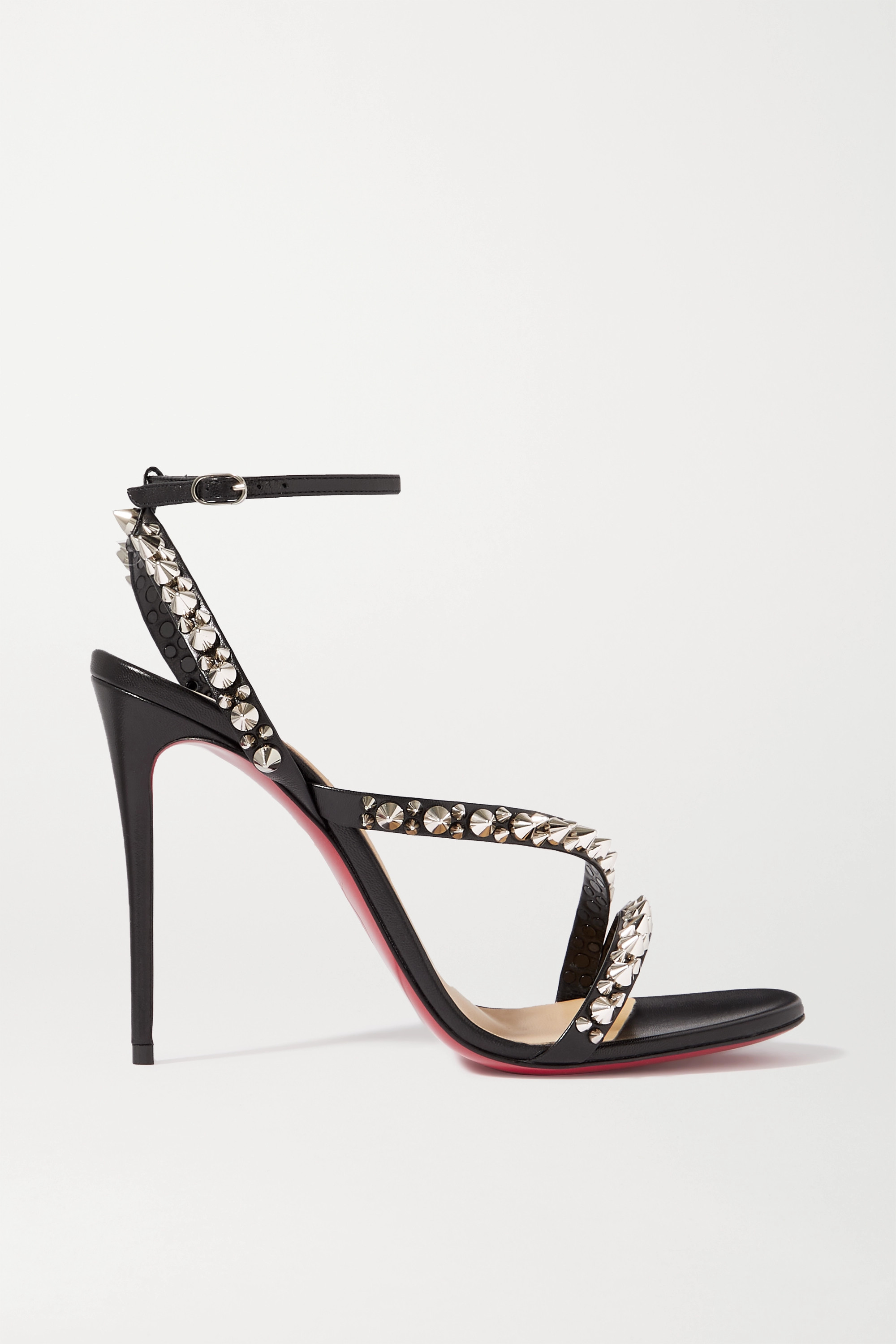 Christian Louboutin Mafaldina Spikes 100 leather sandals