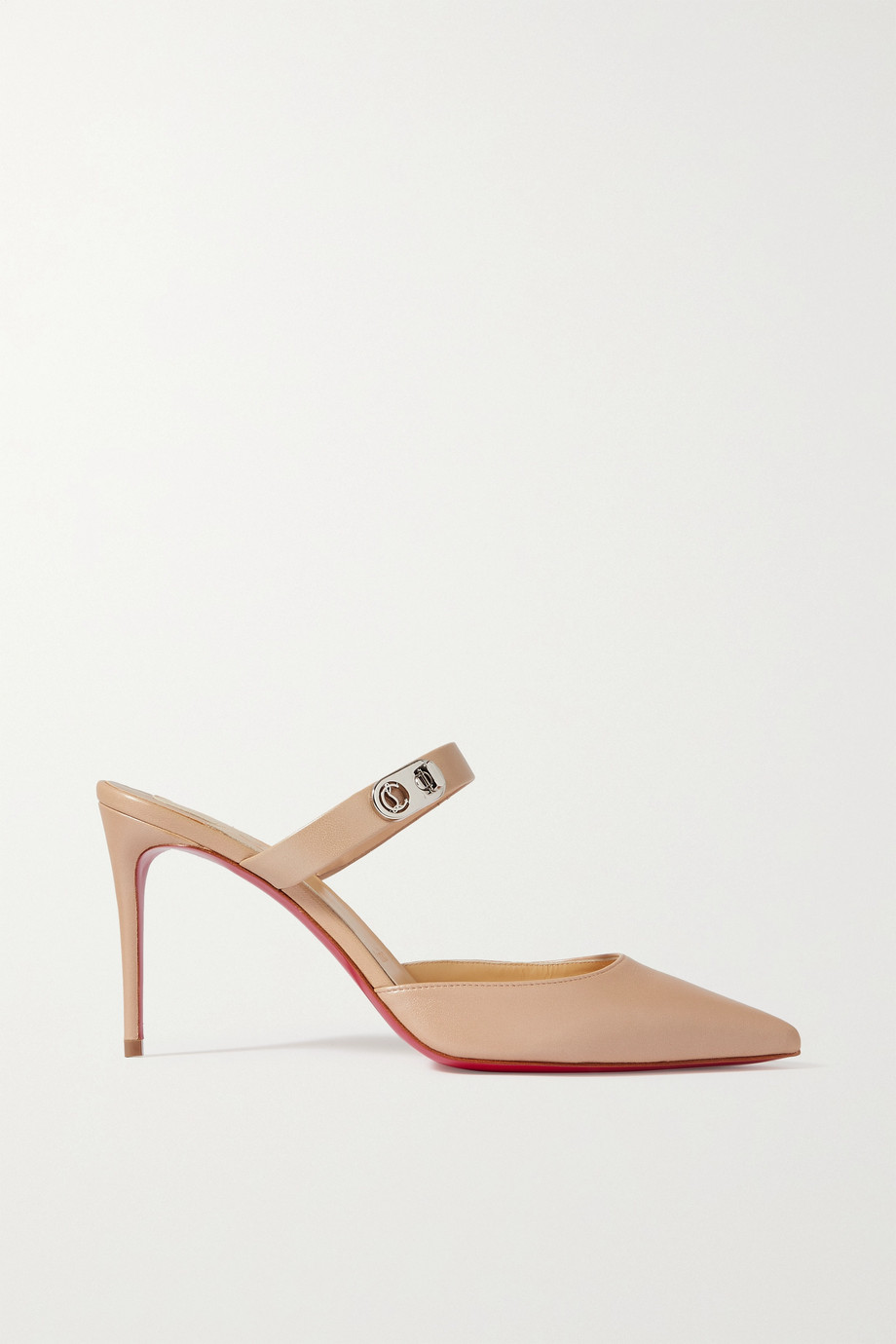Christian Louboutin Choc Lock 85 leather mules